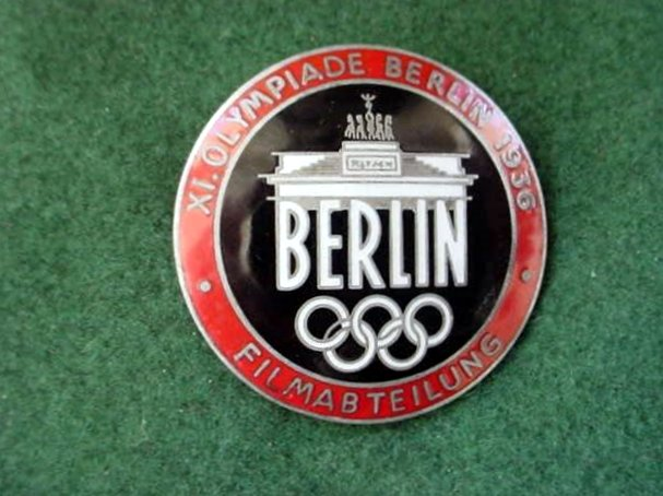 1936 Olympic Film-crew Pin