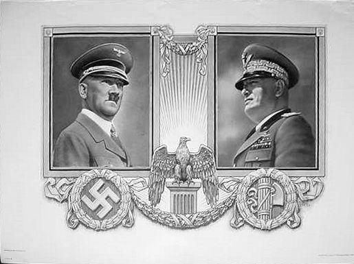Hitler-Mussolini Print