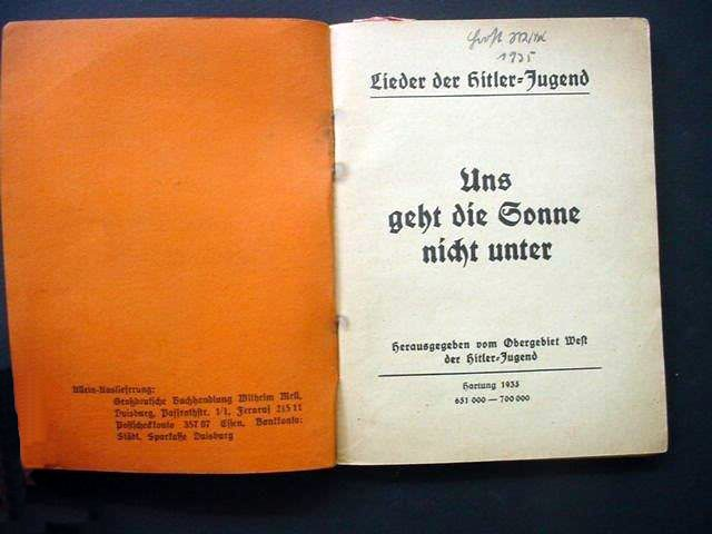 National Socialist Songbooks