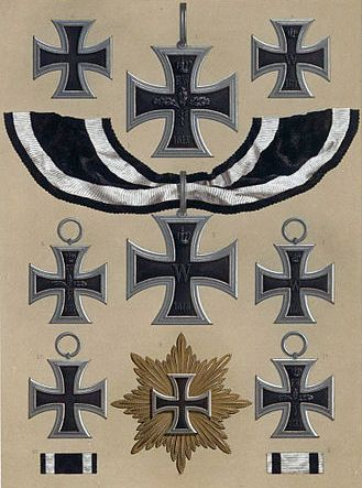 Iron Cross Gold Pin