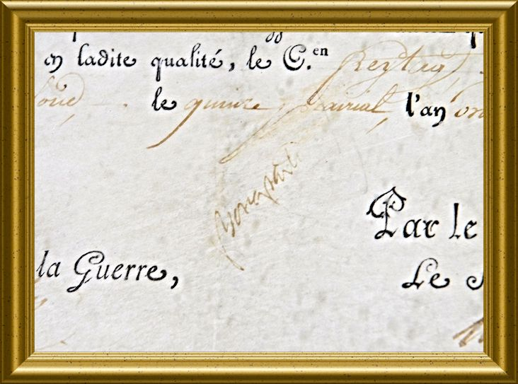 Signature of Napoleon