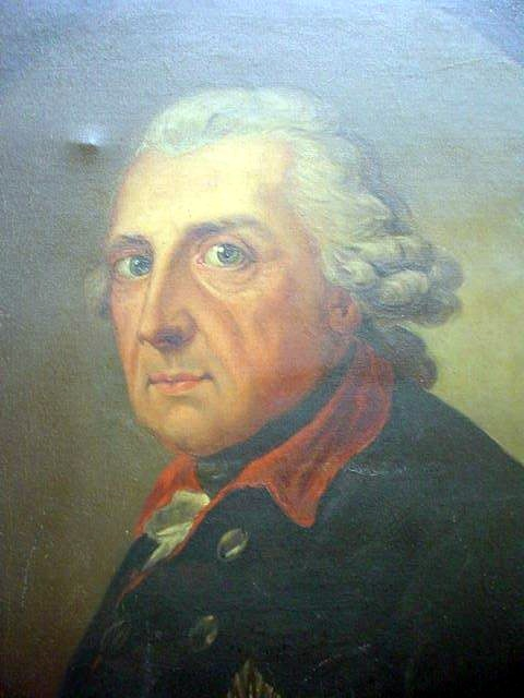 Oil Painting of Frederick the Great