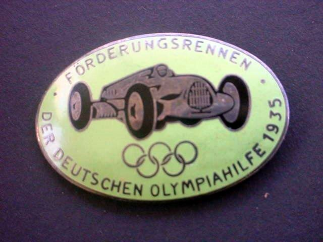 1936 Olympic Racing Badge