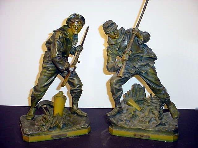 Soldier Sailor Statues