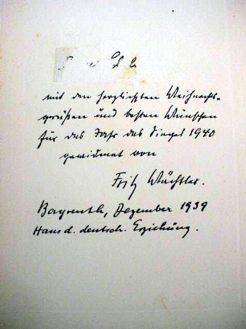 Book Signed by Wächtler