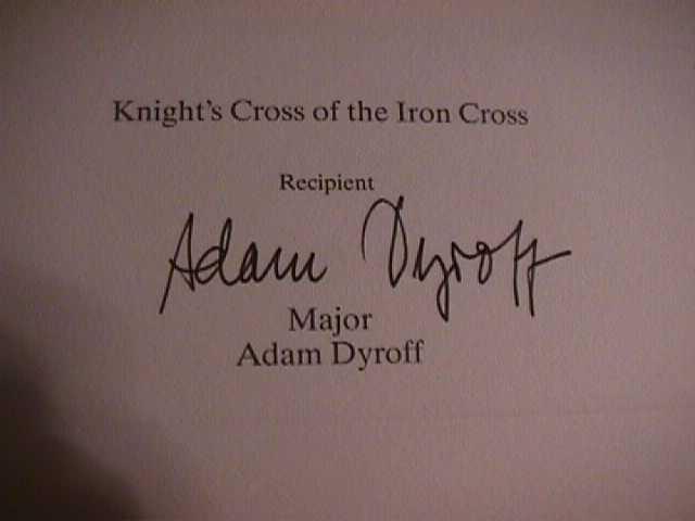 Adam Dyroff Signature