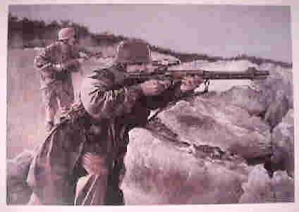 German Paratroopers in Action