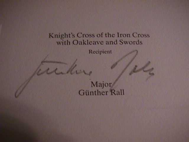 Günther Rall Signature
