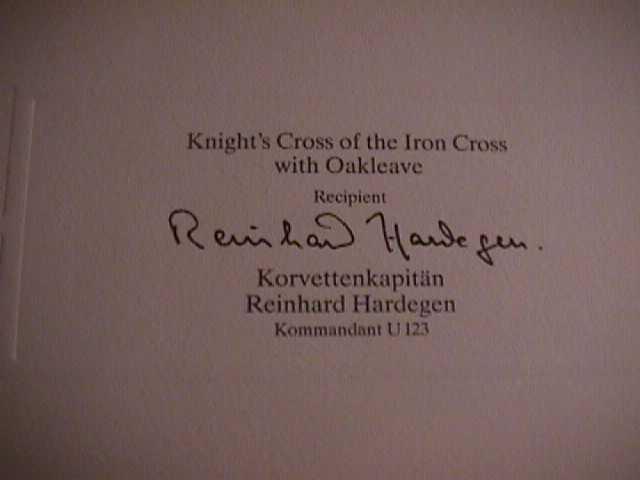 Reinhard Hardegen Signature