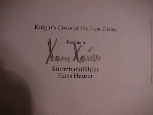 Hans Hauser Signature