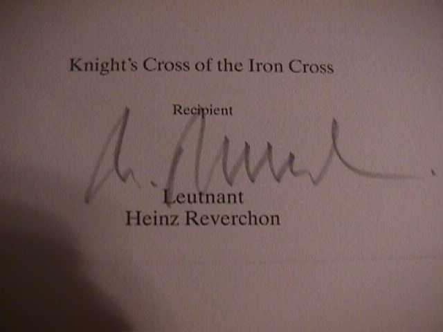 Heinz Reverchon Signature