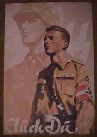 Waffen SS Hitler Jugend Recruiting Poster