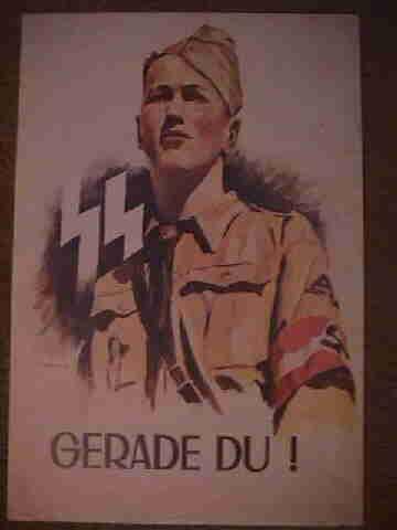 SS Hitler Jugend (Hitler Youth) Recruiting Poster