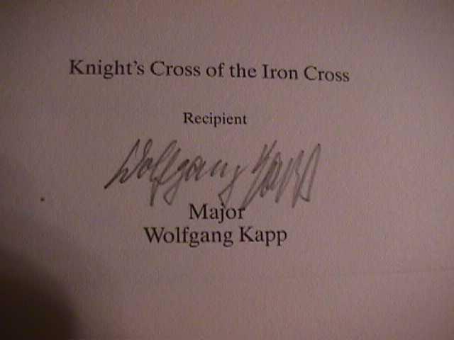 Wolfgang Kapp Signature
