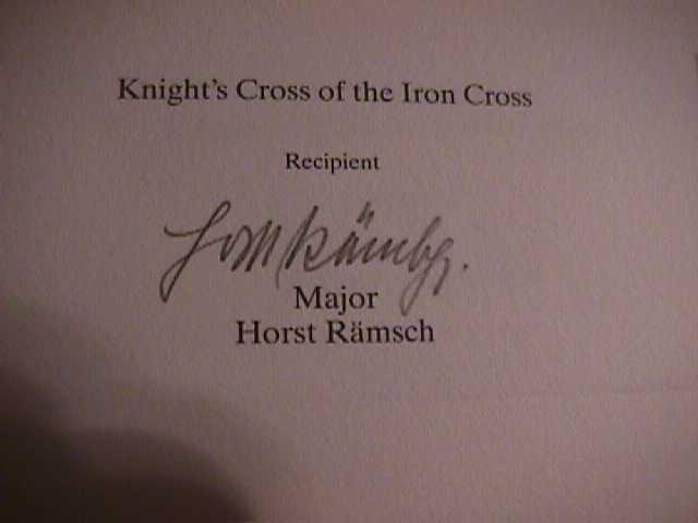 Horst Rämsch Signature