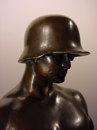 Bronze German Soldier Statue