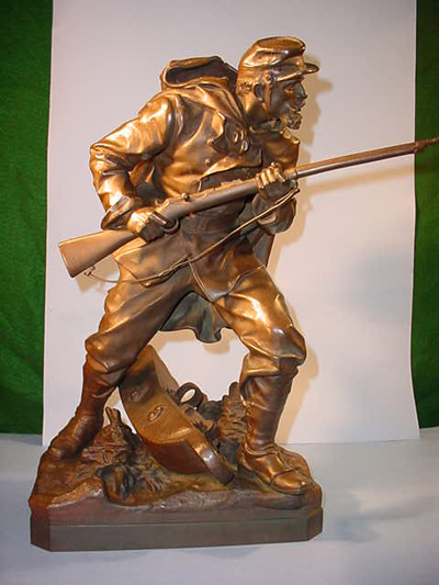 Croisy Bronze of French Soldier