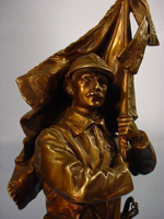 Saulo Bronze of French Soldier