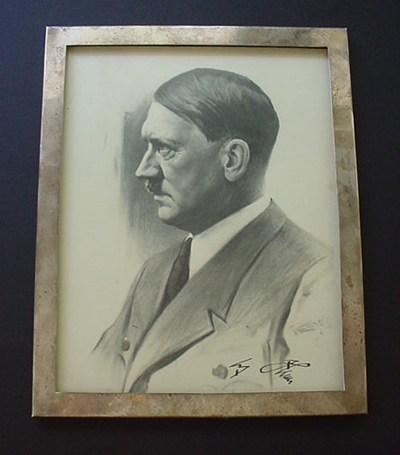 Signed Hitler Portrait