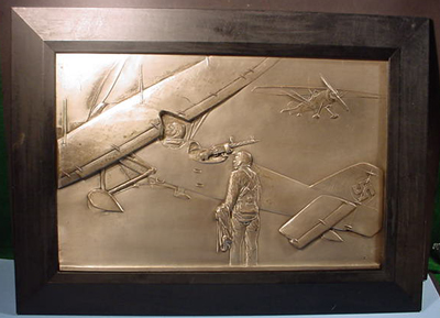 Metal Plaque of Airplane